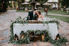 Lake Oak Meadows Sweetheart Table at Reception Site wedding table Outdoor Wedding Reception, Rustic Wedding, Floral Wedding, Wedding Venues, Wedding Flowers, Outdoor Weddings, Wedding Tables, Wedding Ideas, Wedding Greenery