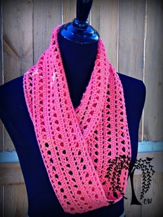 Spring Kisses Infinity Scarf~The Country Willow {free #crochet pattern} #handmade