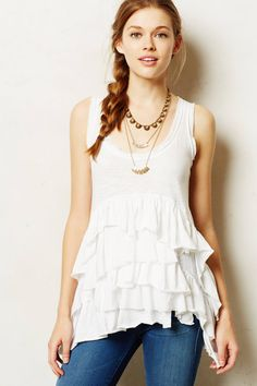 Petticoat Tank - anthropologie.com - $39.95, orig. $68  This would look so cute under a sweater for fall/winter!