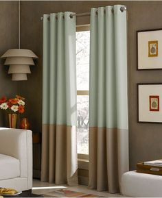 CHF Window Treatments, Kendall 52 X 95 Panel - Curtains & Drapes - for the home - Macy's ~ Great no sew inspiration! Window Panels, Window Coverings, Window Treatments, Curtain Panels, Lined Curtains, Grommet Curtains, Cafe Curtains, Bedroom Curtains, Shower Curtains