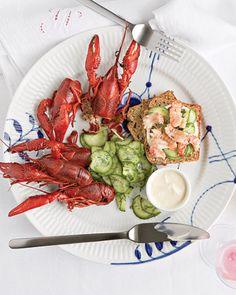 Swedish Crayfish Menu from Martha Stewart Living #kräftskiva.