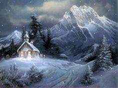 pologne noël   Joli paysage de montagne sous la neige chez KRYSTAL...