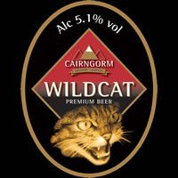 Cairngorm Brewery Beer. Wildcat Premium Beer from Scotland.