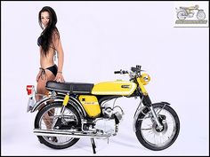 Lady Biker, Biker Girl, Car Girls, Pin Up Girls, Mini Motorbike, Honda Cub, Retro Bike, Yamaha Motorcycles, Clinic Design