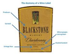 How To Read a Wine Label: How to Read a New World Wine Label