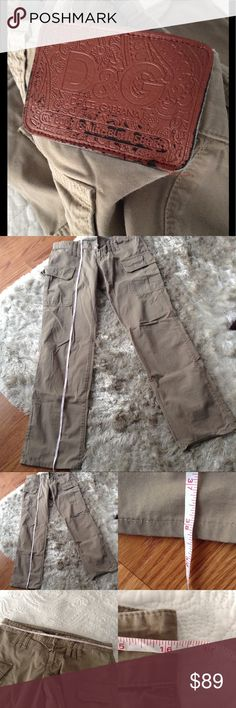 🍂 Dolce & Gabbana Khakis 🍂 Normal wear. Missing button. Cargo like pants.  🍂 Measurements in pictures. Length measured from waist. Check measurements before purchasing. 🍂 Make an offer 🍂 No trades 🍂 Thanks for stopping by my closet!!  O2117 Pants Chinos & Khakis