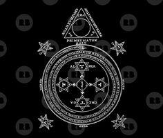 Cercle Magique Roi Salomon. Le Cercle Magique du Roi Salomon servait à appeler les Démons dans le Triangle de Manifestation, il est surement encore utilisé pour cet usage afin de faire appel à des démons que j'ai ajoutée dans cette collection. #solomon #salomon #salomonking #king #demons #magic #sorcery #magiccircle #circle Wiccan, Magick, Witchcraft, King Solomon, Demonology, Dark Lord, Art Mural, Quilt Cover, Colorful Shirts