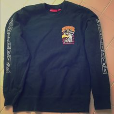 d050f1a69c9 SUPREME crew neck Forest green crew neck sweatshirt. In perfect condition.  Size medium Supreme