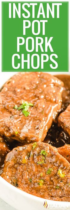 Instant Pot Pork Chops come out tender, juicy, and flavorful in about 20 minutes. Make this recipe and your pressure cooker will handle the hard work! #PorkChops #InstantPot Pressure Cooker Pork Chops, Instant Pot Pressure Cooker, Pressure Cooker Recipes, Recipes Using Pork, Pork Chop Recipes, Instant Pot Pork Chops, Pork Chops And Gravy, The Slow Roasted Italian, Fast Easy Meals