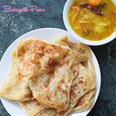 Raw Food Recipes, Bread Recipes, Roti Canai Recipe, Soft Sourdough Bread, Malaysian Food, Malaysian Recipes, Roti Bread, Flat Pan, Creamy Chicken