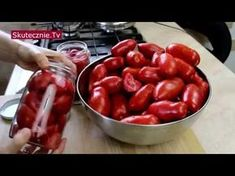 Pomidory w słoikach na zimę (najprostsze) :: Skutecznie.Tv [HD] - YouTube Preserves, Pickles, Food And Drink, Stuffed Peppers, Homemade, Canning, Fruit, Vegetables, Youtube