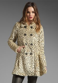 FREE PEOPLE Leopard Swing Coat in Leopard Print at Revolve Clothing