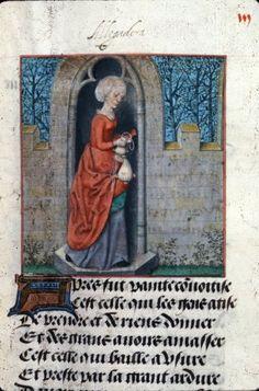 Convoitise  Harley 4425  Guillaume de Lorris and Jean de Meun, Roman de la Rose  Netherlands, S. (Bruges); c. 1490-c. 1500