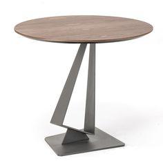 Cattelan Italia Roger, comer en igualdad y armonía Diseño de Paolo Cattelan. Colección 2015. Mesa con base en acero barnizado transparente, gofrado blanco o...