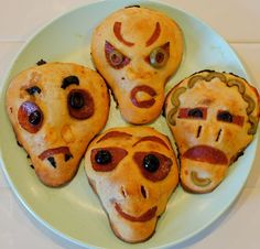 The Main Course If you're offering something a little more substantial in the way of food at your fete, these zombie calzones are not only filling, but could be a fun project for guests to make their own.