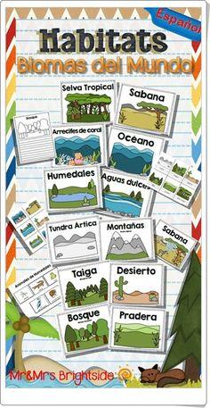 Habitats del mundo (teacherspayteachers.com)