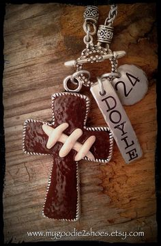 Football Necklace Football Mom Football jewelry by Football Spirit, Football Cheer, Football Quotes, Football And Basketball, Football Season, Baseball, Football Mom Shirts, Sports Shirts, Football Stuff