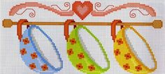 Seffaf Bulutlar: Kanaviçe: Mutfak Temalı Desen Örnekleri Cross Stitch Embroidery, Cross Stitch Patterns, Hobbies And Crafts, Diy And Crafts, Cross Designs, Filet Crochet, Nativity, Free Pattern, Kids Rugs