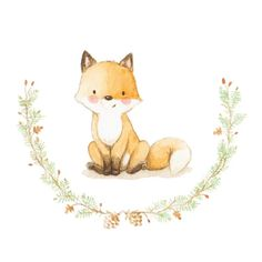25 Ideas Kids Room Illustration Watercolors For 2019 Fuchs Illustration, Cute Illustration, Nursery Prints, Nursery Art, Fox Nursery, Art Fox, Fuchs Baby, Illustration Mignonne, Art Mignon
