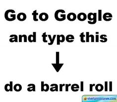 Go To Google And Type Do A Barell Roll  Actually do it