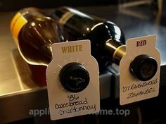 Absolute Products Store 100 Dual Label (Red/White) Wine Cellar Bottle Tag – Wine Bottle Tags Paper – Wine Tags (See Below For Special Offer)  Check It Out Now     $8.99        ☀ Why Choose Absolute Products Store's Dual Label (Red/White) Wine Cellar Bottl