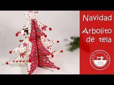 """El blog de """"Coser fácil y más by Menudo numerito"""" - Costura creativa: Árbol de tela, una idea para decorar tu Navidad"""