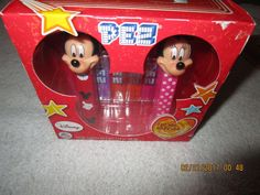 PEZ DISNEY MICKEY AND MINNIE MOUSE SET MINT IN BOX FRIENDS FOREVER