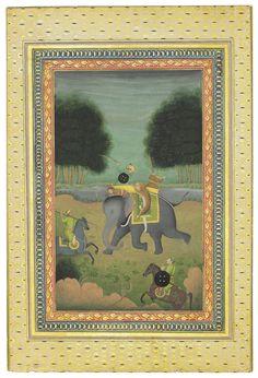 Mughal Miniature Paintings, Mughal Paintings, Mughal Empire, Indian Art, Emperor, 18th Century, Miniatures, Taj Mahal, Lion