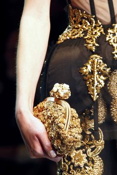 Love, love, love the Dolce & Gabbana's baroque style (especially the bag) for this winter