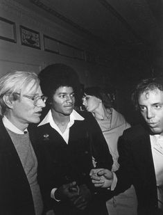 """Tod Papageorge, Michael Jackson and Andy Warhol - Studio 54, 1977. Germany 2014: Exhibition """"Excess In Black And White"""" at the Gallery Thomas Zander, Cologne"""