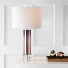 """Edward 27"""" Glass /Crystal LED Table Lamp, Rose Gold by JONATHAN Y - On Sale - Overstock - 21030263 Table Lamp Base, Table Lamp Sets, Lamp Bases, Contemporary Table Lamps, Lamp Shade Store, Cool Floor Lamps, Drum Shade, Glass Crystal, Gold Glass"""