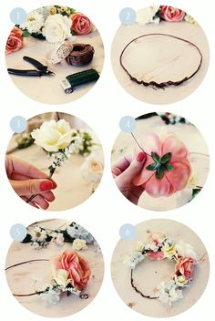 diy flower crown-