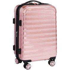 iFLY Hard Sided Luggage Fibertech, 20 inch, Rose Gold