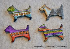 Polymer clay brooches | Flickr - Photo Sharing!