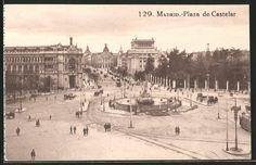stare pocztówki: AK Madrid, Plaza de Castelar
