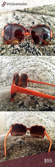 🍾 Cole Haan Tortoise Shell Sunnies These are beautiful and unique : a combo of tortoise shell and orange 😍. I am hesitant to part with them, but here they are! Excellent condition. Reasonably negotiable and ready to ship! 🍬 Cole Haan Accessories Sunglasses
