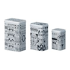 TRIPP Container with lid, set of 3 IKEA Suitable for coffee, tea and other groceries. Space-saving; small sizes can be stacked in the larger sizes.