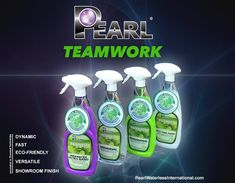 Green Work is Teamwork... It's the Shine of the Times... Pearl Waterless Auto Care Solutions.