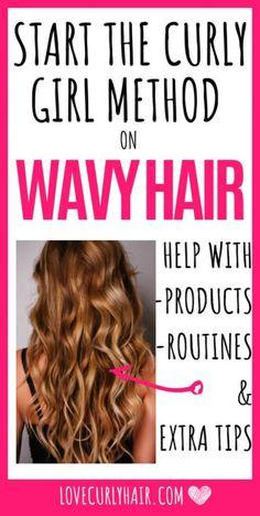 Make Hair Curly, Wavy Hair Tips, Frizzy Wavy Hair, Wavy Hair Care, Wavey Hair, Curly Hair Routine, Natural Wavy Hair, Long Wavy Hair, How To Make Hair