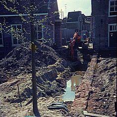 951_2232 De opgraving van de fundering van de kloostergang. - Regionaal Archief Dordrecht