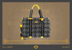 Here we present you OBLIO, beautiful casual bag of our next Fall Collection. The macro pied de poule in matching grey shades is jazzed up by the yellow leather details, to accompany you in your everyday routine!