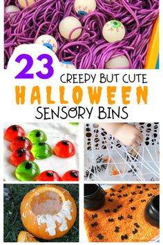 Looking for Halloween activities to do with your toddler? Check out these cute Halloween Sensory Bins! These sensory bins are low prep and so easy to set up. Perfect for getting in the Halloween spirit with your toddler or preschooler! Indoor Activities For Toddlers, Fun Fall Activities, Halloween Activities, Motor Activities, Toddler Halloween, Cute Halloween, Spirit Halloween, Toddler Sensory Bins, Sensory Play