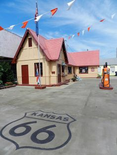 Route 66 Visitors Center - Baxter Springs, Kansas ~ built 1930, restored 2007, now a visitors center returned to way it looked when a Phillips 66 Gas Station