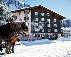 Hotel Post in Lech am Arlberg Austria Travel Stuff, Places To Travel, Country Breaks, I Want To Travel, City Break, Train Travel, Anton, Luxury Travel, Vacation Spots