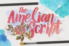 Amelian Script Typeface by Ian Irwanwismoyo on @creativemarket