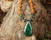Malachite Rudraksha Mala  - Meditation Inspired Yoga Beads