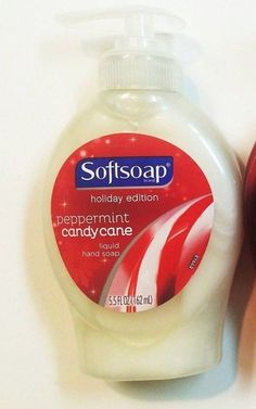 Softsoap Holiday Edition Peppermint Candy Cane Hand Soap 5.5 fl oz Lot of 2  #Softsoap