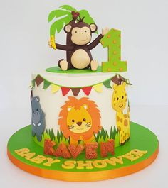 Celebrate With Cake Jungle Birthday Cakes First Animal