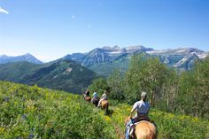 Trail riding in the Utah mountains.