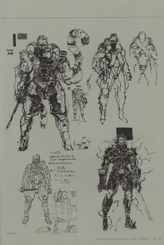 """conceptconstruct: """" """" Solidus Snake concept art from """"The Art of Metal Gear Solid art book. """" Let's get to some actual characters. Raiden Metal Gear, Metal Gear Solid Series, Character Art, Character Design, Metal Gear Rising, Gear Art, Cyberpunk Character, Alien Art, The Fox And The Hound"""